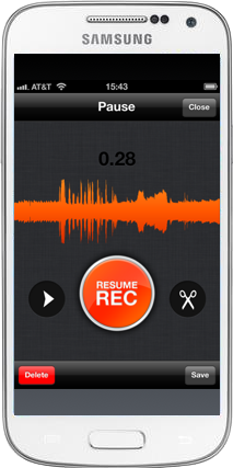Smart telefon med Soundcloud-app