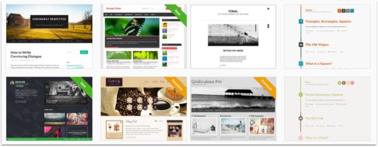 I WordPress kan man välja tema som bestämmer hur layout och funktioner styrs.